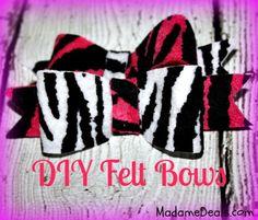 Felt Craft Projects: DIY Felt Hairbow Tutorial  #crafts