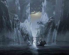 The Octavius was discovered West of Greenland by a whaler on October 11th, 1775. Crew members of the Whaler Herald boarded the vessel, discovering the entire crew dead, frozen, apparently at the moment of their death. The Captain was found in his cabin frozen at his desk with his pen in hand, still writing in his log. He was accompanied by a dead woman, a child covered in a blanket and a sailor holding a tinderbox. The ship's log showed that the frozen ship had been afloat for over 13 years.