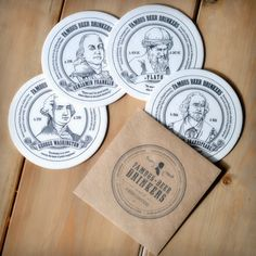 Drink your way through history with these coasters that profile famous people who shared one very important characteristic - their love for beer. $8 at www.swagbrewery.com
