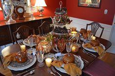fall tabl, thanksgiving table settings, autumn, thanksgiv dish, thanksgivingchristma idea, thanksgiv idea, thanksgiv tablescap, holiday decor, tabl set