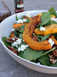 Acorn Squash & Spinach Salad from @Gaby Saucedo Dalkin