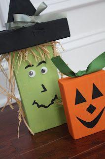 Halloween 2X4 Block Crafts