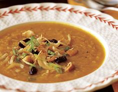 THE BAREFOOT CONTESSA'S ROASTED BUTTERNUT SQUASH SOUP WITH CURRY CONDIMENTS