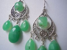 Cuckoo for Chrysoprase Turkish Silver Bali by SharperSpectrumArt, $67.00