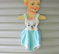 Vintage bear sunsuit, 1950's.