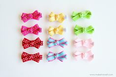 cute ribbon hair clips