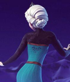Elsa coronation dress back