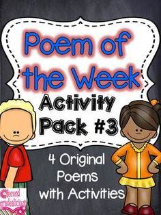 Poetry {Poem of the Week} Activity Pack #3  All kinds of activities to help build reading fluency! Great for word work, Daily 5 and literacy centers too. $