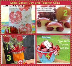4 Apple School Day Fun and Teacher Gifts #teachergifts