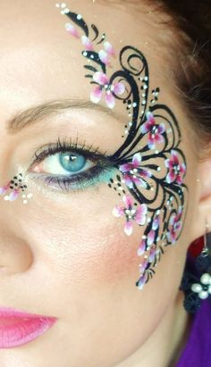 Floral face art...painting..lovely!