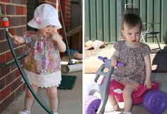 Free Baby Clothes Pattern! Sew a baby peasant top - so cute and easy to sew.