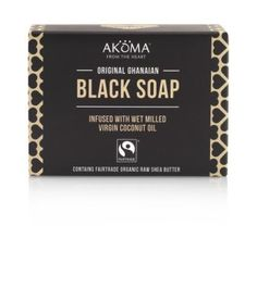 Free from black dyes or charcoal, our African Black Soap takes on its color form the natural processes of making this prized soap.  #FairTrade #BodyCare