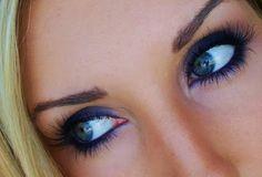 Simple Smokey Navy Eyes
