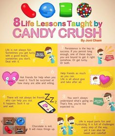Candy Crush Humor , this is so funny bc I love this game, although I've not made it to the chocolate levels yet :( lesson taught, stuff, candi crush, funni, life lessons, candies, humor, quot, thing