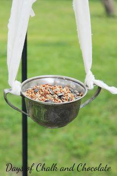 Days of Chalk and Chocolate: Sugar Bowl Bird Feeder (Plus More DIY Feeders!)
