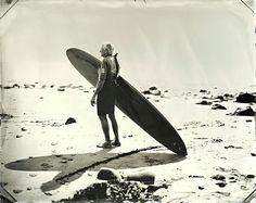 Tintype surfer portrait by Joni Sternbach