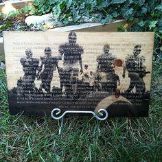 Fall wooden football