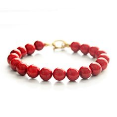 Coral Bracelet Red, $17, now featured on Fab.