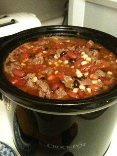 Taco Soup (Dec 2010): Paula Deen's recipe = I did not use the olives =