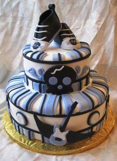 "Baby \""Punk Rocker\"" Shower Cake By noosie on CakeCentral.com"