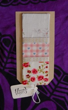 Giant Classic Rose & Heart Patchwork  Fridge Magnet Memo Boa