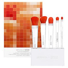 SEPHORA PANTONE UNIVERSE - Tangerine Tango Brush Set  #sephora