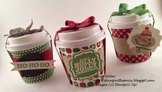 Stampin' Up! Mini Coffee Cups, Stampin' Up! Christmas treats