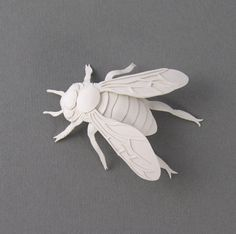 Paper Bee Miniature Sculpture by Elsa Mora, via the Wee Birdy GREAT.LY boutique.