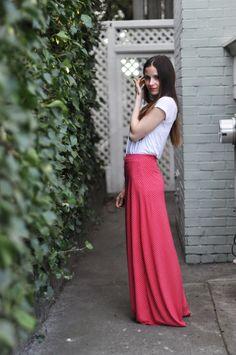 Quick knit a-line maxi skirt tutorial