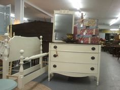 Federal Style Bow Front 3 Drawer Dresser by ThePaintedBlueCanary, $225.00