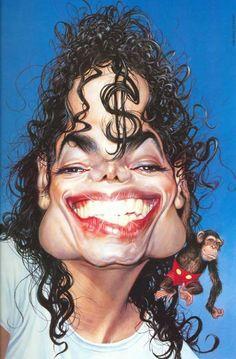 M.Jackson #Caricature #FunnyFaces