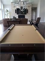 Brunswick Treviso pool table with sahara cloth centennial