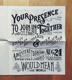 Typographic Wedding Invite Poster