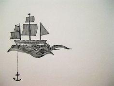 sailboat drawing - w/ Invictus?