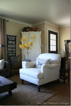 The Old Painted Cottage - Fall inspired living room