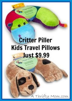 Critter Piller Pillows what a great idea, my kids would love these