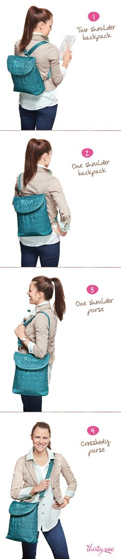 Wear the Vary You Backpack Purse out and about, any way, any day! Jackie Pawluk #339136 mythirtyone.com/jackiepawluk