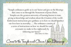 Temple Blessings Handout