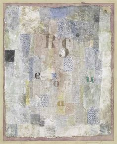 Paul Klee, Vocal Fabric of the Singer Rosa Silber, 1922 •●