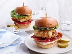 Crab Cake Sliders Recipe : Food Network Kitchen : Food Network - FoodNetwork.com