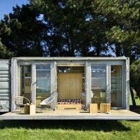 one of the many  dwellings from transformed shipping containers