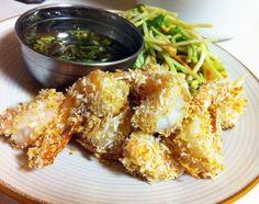 Panko-Crusted Shrimp, Chili-Garlic Glaze & Asian Slaw recipes More