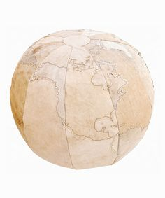 Take a look at this Save the World Canvas Pouf by Karma Living on #zulily today!