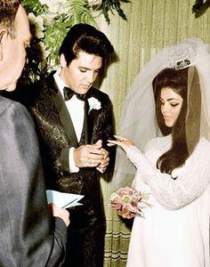 Elvis and Priscilla Wedding, May 1, 1967 Las Vegas.