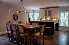 pendant lighting, kitchen idea, combin kitchen, rustic kitchen