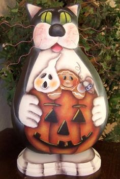 Free Gourd Patterns To Print | The Halloween Cat Gourd Pattern Packet