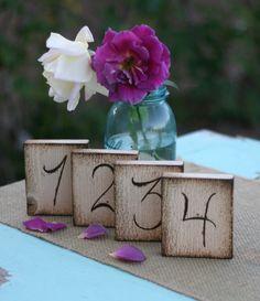 Rustic Table Numbers Barn Wedding Decor (item E10079)