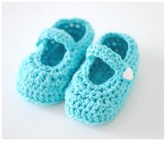 Pastill.nu: Croched baby shoes