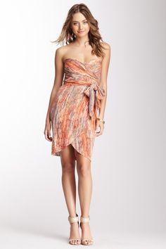Silk Blend Strapless Belted Dress on HauteLook