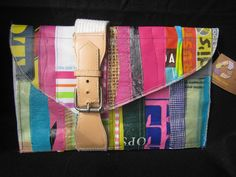 Crazy Clutch recycled plastic fused repurposed .